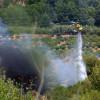 Una burilla llençada des d'un vehicle podria ser la causa de l'incendi forestal d'Esparreguera d'ahir dimecres