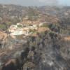 Imatges aèries de l'incendi d'Òdena