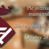 Ple ordinari municipal de Sant Andreu de la Barca del mes d'octubre