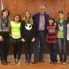 L'alcalde respon les preguntes d'alumnes de sisè de l'escola Can Salvi