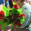 Roses solidàries per Sant Jordi a Sant Andreu de la Barca