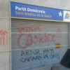 La seu del PDECat pateix un atac amb pintades feixistes i amenaçadores