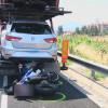 Un motorista ferit greu en un accident de trànsit a l'A2 a Pallejà